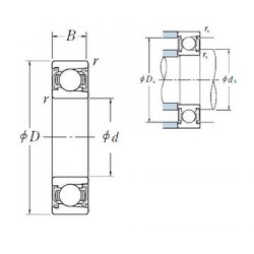 25 mm x 62 mm x 17 mm  NSK BL 305 ZZ deep groove ball bearings