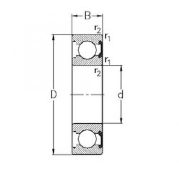 85 mm x 130 mm x 22 mm  NKE 6017-2RSR deep groove ball bearings