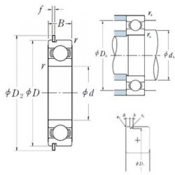 30 mm x 62 mm x 16 mm  NSK 6206NR deep groove ball bearings