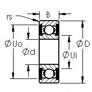 AST 699H-2RS deep groove ball bearings