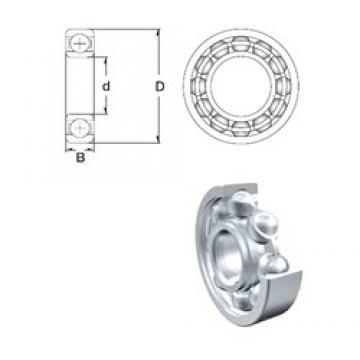 25 mm x 62 mm x 17 mm  ZEN 6305 deep groove ball bearings