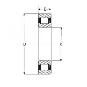 90 mm x 160 mm x 40 mm  SIGMA N 2218 cylindrical roller bearings