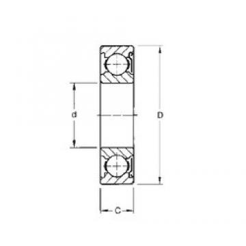 85 mm x 130 mm x 22 mm  Timken 9117KD deep groove ball bearings
