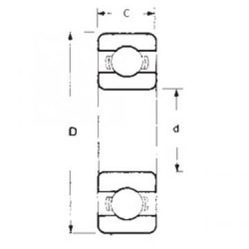30 mm x 55 mm x 13 mm  FBJ 6006 deep groove ball bearings