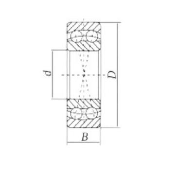 90 mm x 160 mm x 40 mm  Loyal 2218 self aligning ball bearings