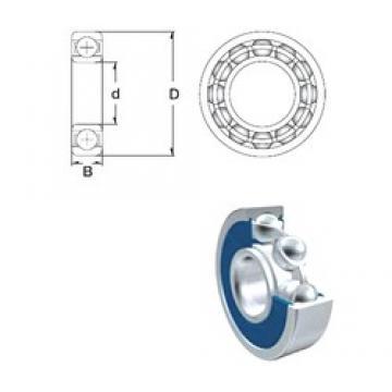 9 mm x 20 mm x 6 mm  ZEN 699-2RS deep groove ball bearings