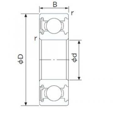 30 mm x 62 mm x 16 mm  NACHI 6206NKE deep groove ball bearings