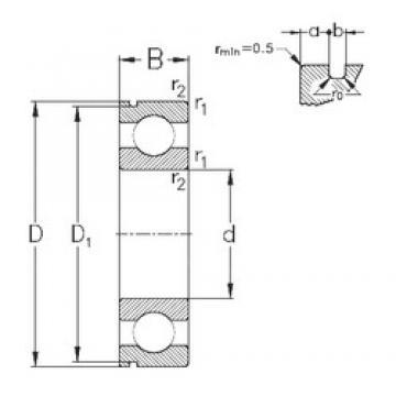 110 mm x 170 mm x 28 mm  NKE 6022-N deep groove ball bearings