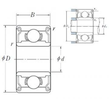 9 mm x 20 mm x 6 mm  NSK 699 ZZ1 deep groove ball bearings