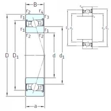 110 mm x 170 mm x 28 mm  SNFA HX110 /S 7CE1 angular contact ball bearings