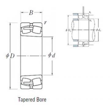 220 mm x 400 mm x 108 mm  NSK 22244CAKE4 spherical roller bearings