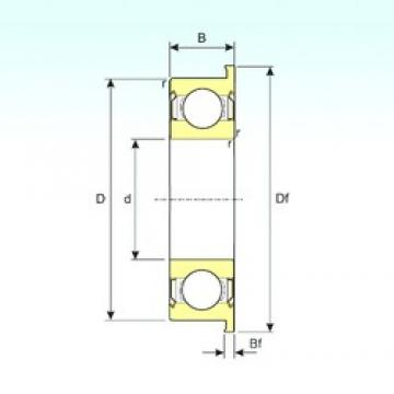 9 mm x 20 mm x 6 mm  ISB F699ZZ deep groove ball bearings