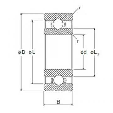 9 mm x 20 mm x 6 mm  NMB L-2090 deep groove ball bearings