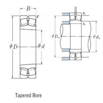 90 mm x 160 mm x 40 mm  NSK 22218EAKE4 spherical roller bearings