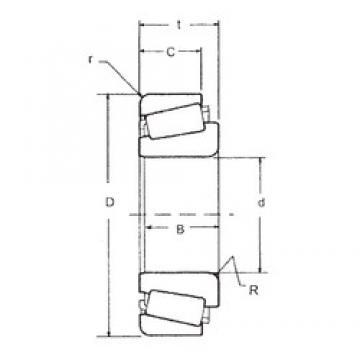 57,15 mm x 104,775 mm x 30,958 mm  FBJ 45289/45220 tapered roller bearings
