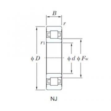 90 mm x 160 mm x 40 mm  KOYO NJ2218 cylindrical roller bearings