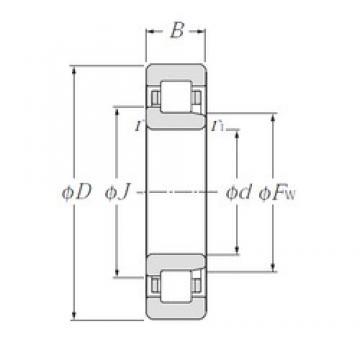 90 mm x 160 mm x 40 mm  CYSD NJ2218E cylindrical roller bearings