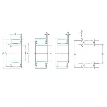90 mm x 160 mm x 40 mm  SKF C2218KV cylindrical roller bearings